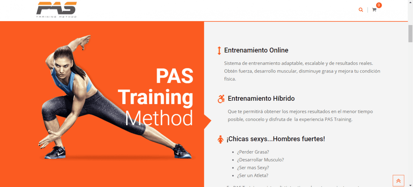 Página Web Pas Training